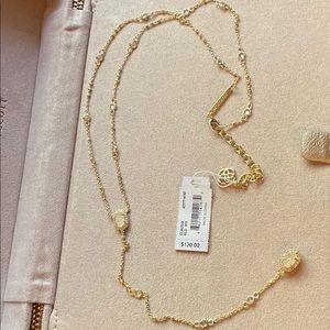 Kendra Scott Claudia Lariat Necklace In Gold
